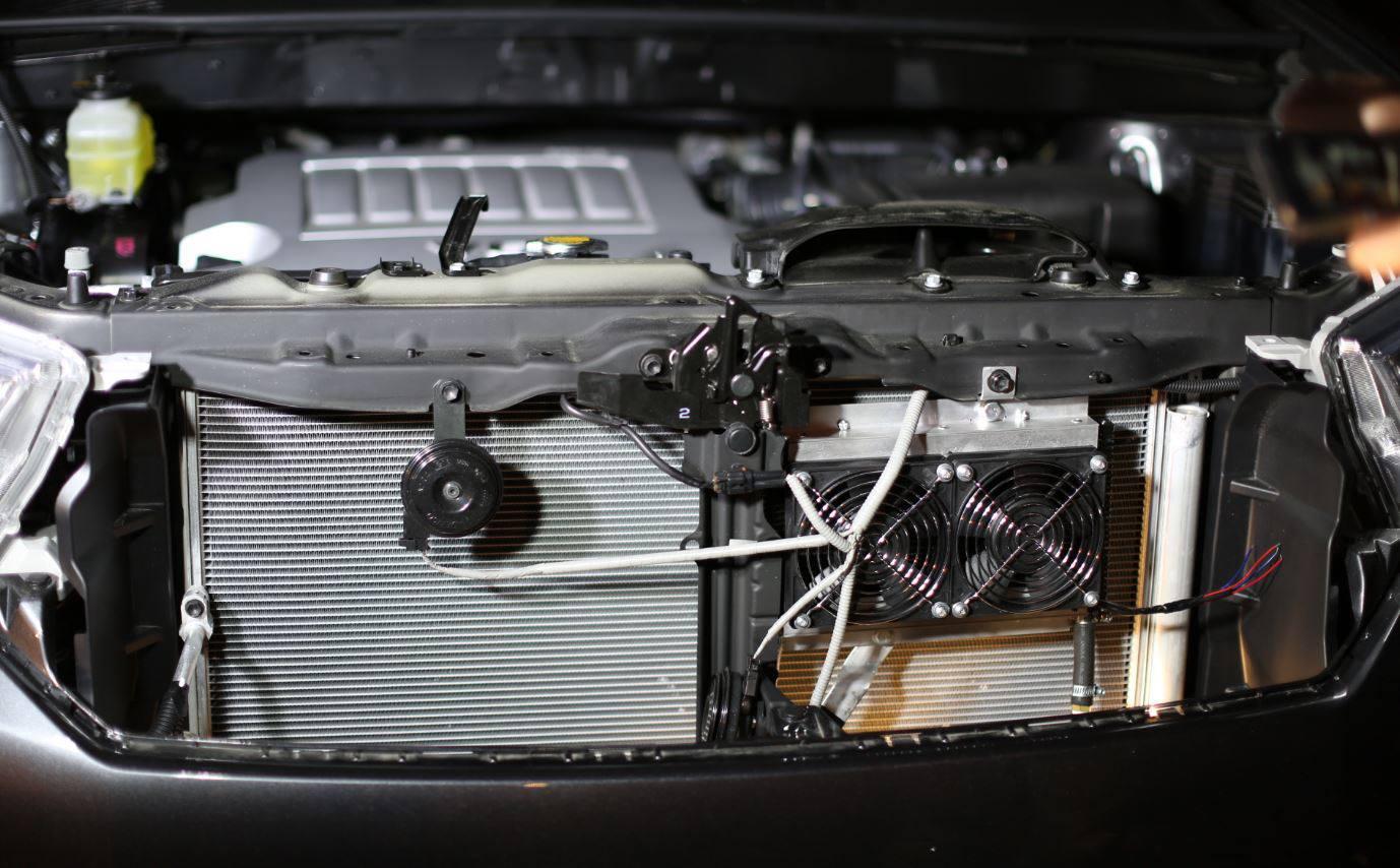 Transmission Cooler Installed