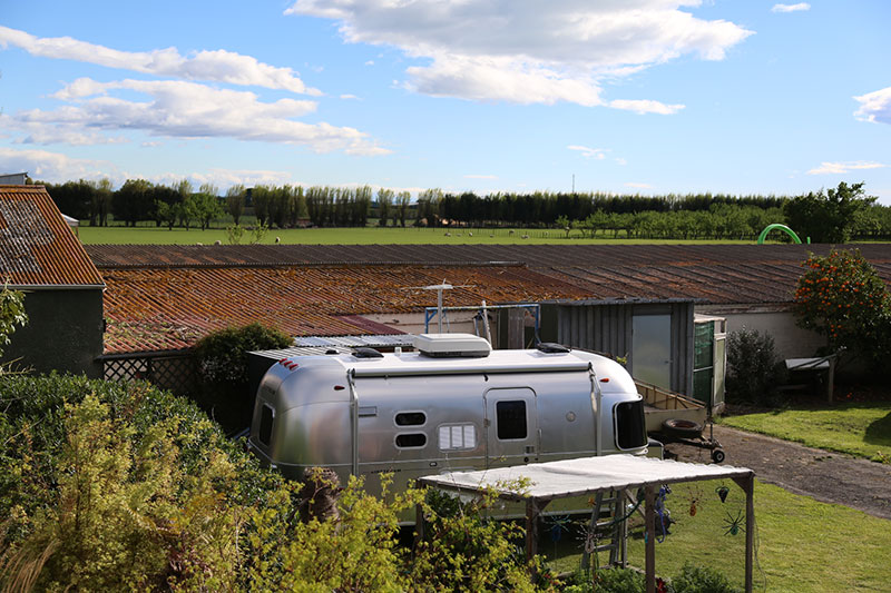 Airstream parked up at Hastings New Zealand