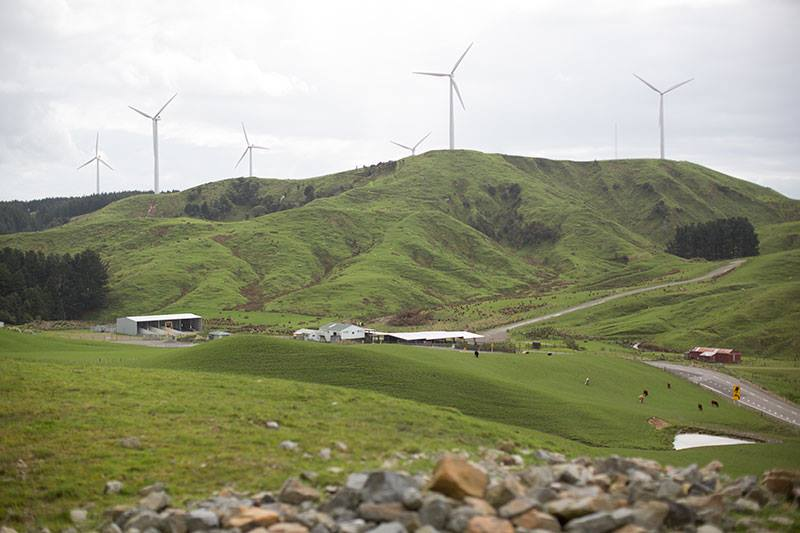 Airstream at Te Apiti Wind Farm New Zealand