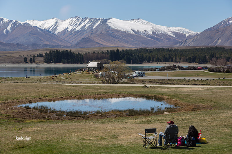 Picnic with a grand view at lake Tekapo