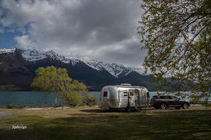 Airstream at Glenorchy New Zealand